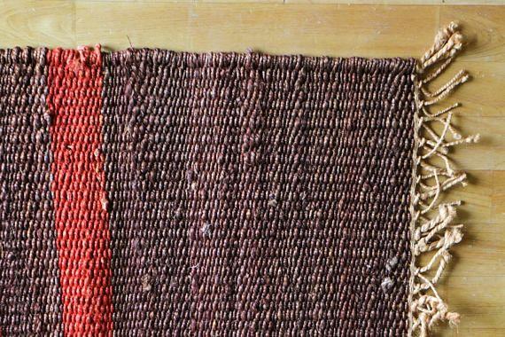 Handwoven Jute Dhurrie Jute Rug Handmade Rug Small Mat