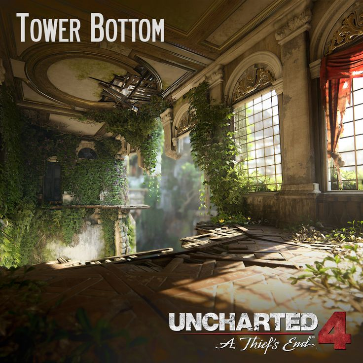 Uncharted 4 - Tower Bottom, Andres Rodriguez on ArtStation at https://www.artstation.com/artwork/XDwny