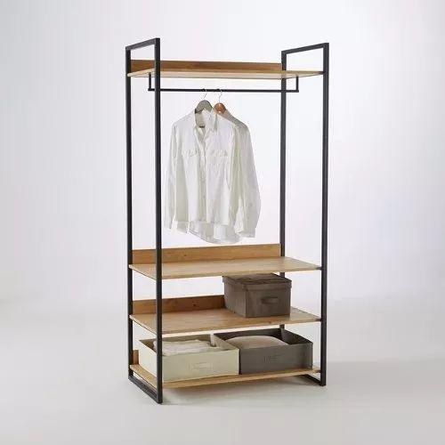 Perchero vestidor estante estanteria modular hierro madera - Estanterias de hierro ...