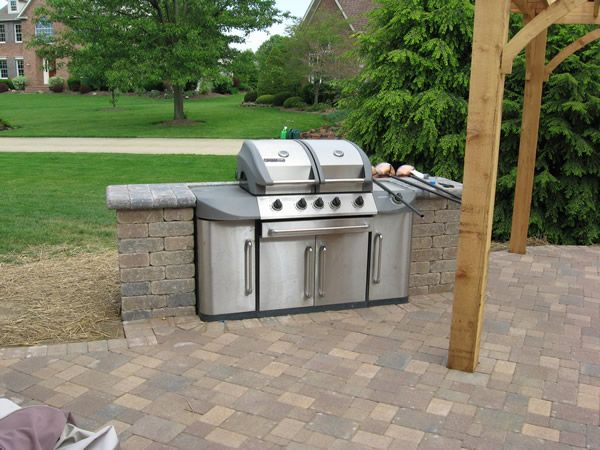 8 best images about backyard on pinterest stone patios for Outdoor kitchen without grill
