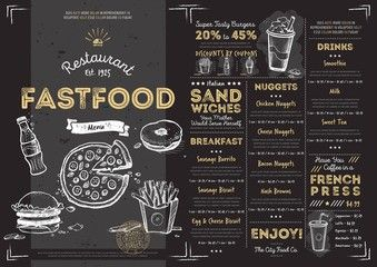 a la carte menu template