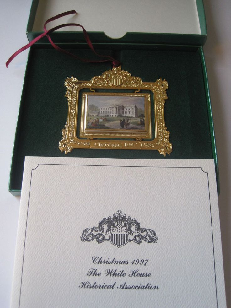 MINT Christmas 1997 The White House Historical Association Ornament USA #TheWhiteHouseHistoricalAssociation