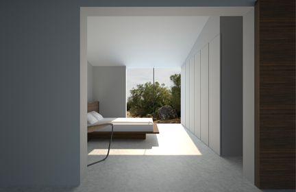John Pawson. Bedroom, Majorqua House, Spain