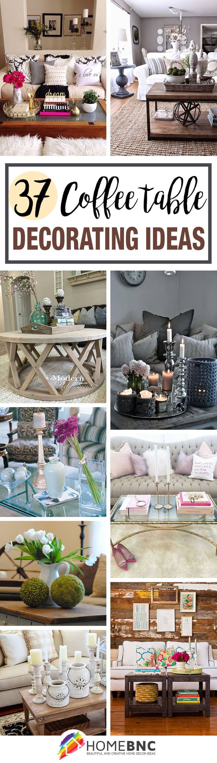 Great Traditional Coffee Table Decorating Ideas