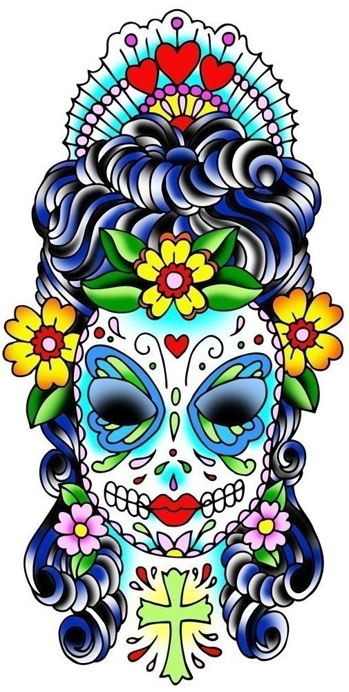Best 25+ Sugar skull design ideas on Pinterest | Day of ...