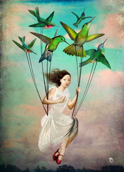 'Take me somewhere nice' by Christian  Schloe on artflakes.com as poster or art print $16.63