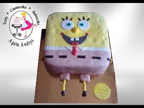 SpongeBob Kanciastoporty TORT urodzinowy dla chłopca dziewczynki BIRTHDA...