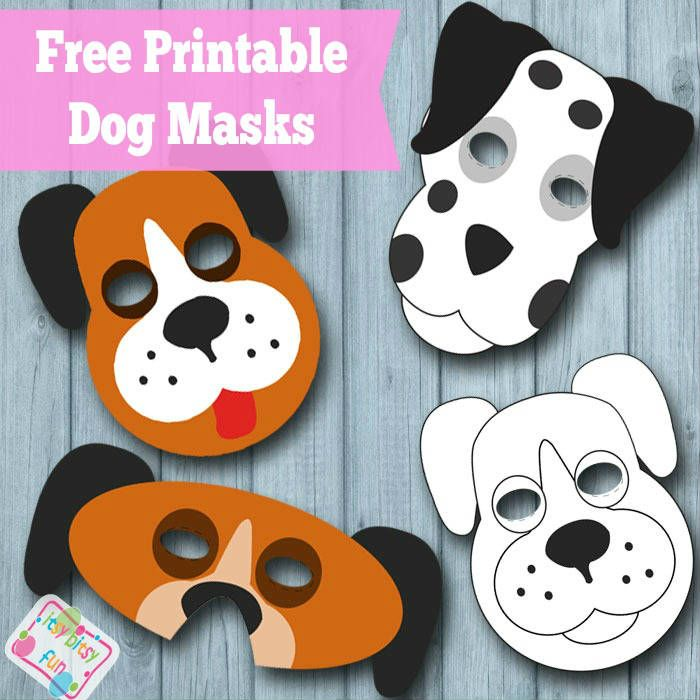 Free Dog Masks & Templates to Color
