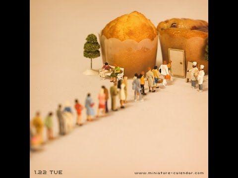 Miniature Calendar 2013 - January - YouTube