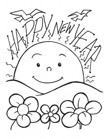 8 best New Year Coloring Pages images on Pinterest ...