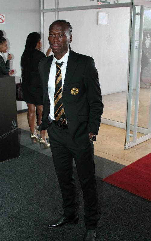 Looking as sharp as a razor - Footballer Reneilwe Letsholonyane arrives at the #SASportsAwards Nominee Reveal