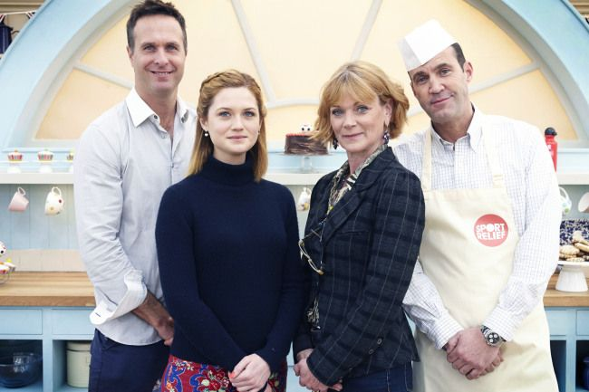 Sport Relief Bake Off 2014, episode 1: Bonnie Wright casts a spell over Paul Hollywood and Mary Berry and wins.