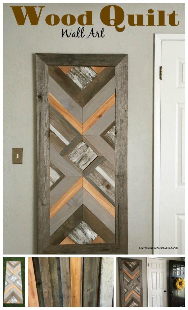 Diy Wood Quilt Wall Art Quilts Diy Wood Projects Wood Scraps