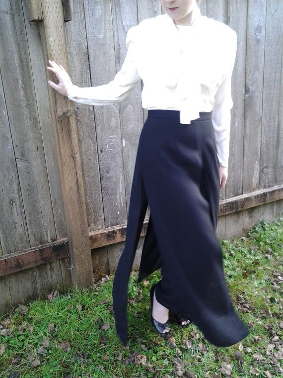 Black dress pants with skirt overlay by Joseph Ribkoff ...