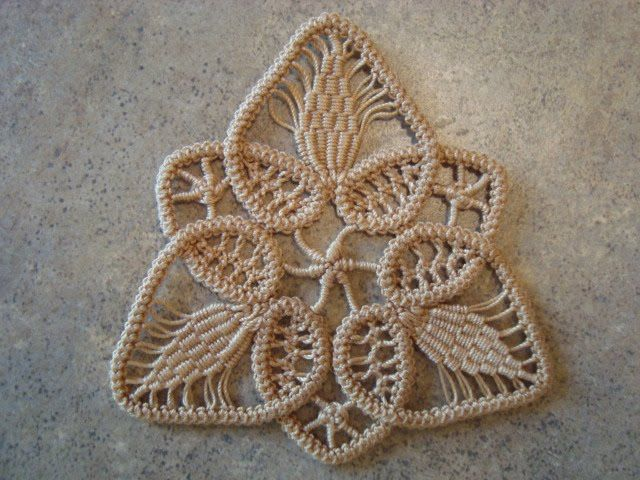 Thread Head: Romanian Point Lace Motif. Detailed  Beginners Tutorial and Introductory Crotchet Braid Video