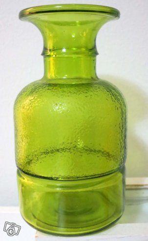 Siiroisen Pub-sarjan vihreä karahvi Riihimäen lasi