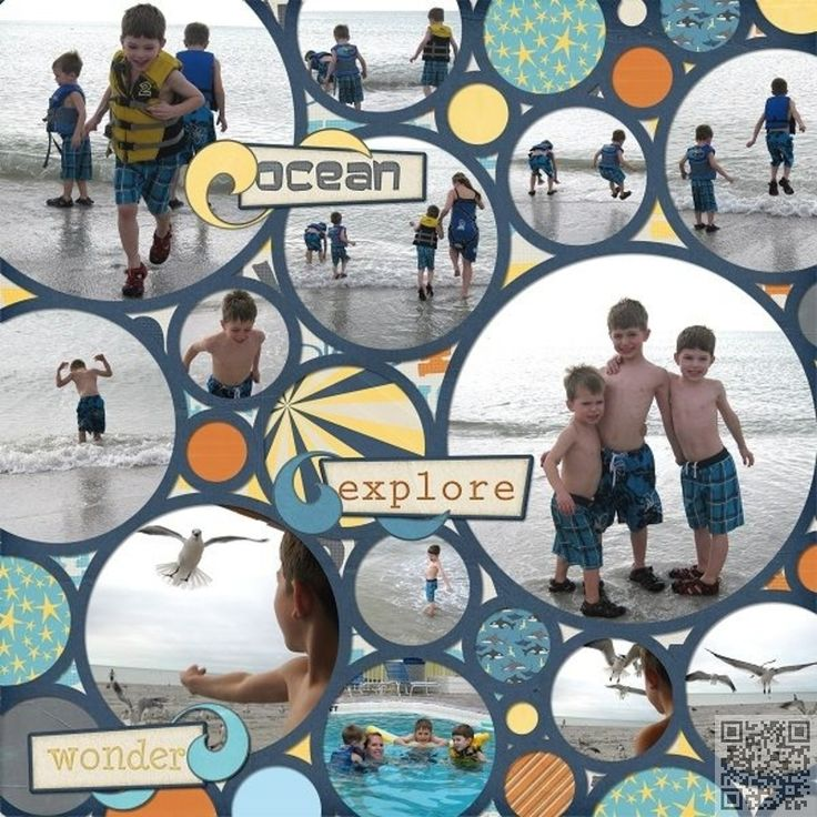 31. All #Circles - 36 Scrapbook Layouts That Are #Going to Blow Your Mind ... → DIY #Layouts