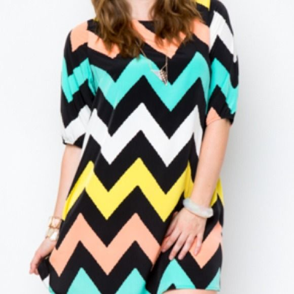 priority+dress+for+plus+size | Dresses & Skirts - Plus size chevron dress