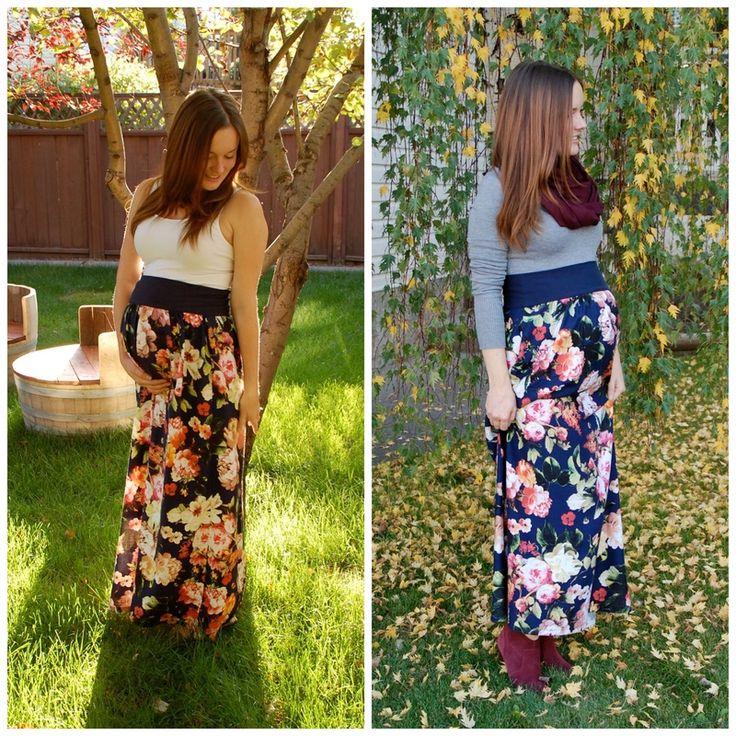 Mid-Season Maxi #floral #creativelyinclined #DIY #maternity