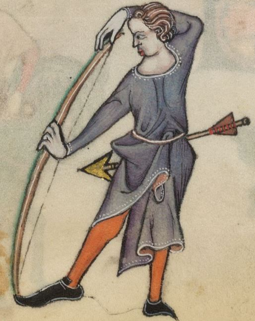 Detail from The Luttrell Psalter, British Library Add MS 42130 (medieval manuscript,1325-1340), f56r