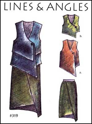 Patterns- Lois Ericson #319 Lines & Angles. Sizes 4-26 included in one pattern.