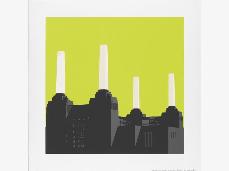 BATTERSEA PRINT GREENS Paper 50 x 50cm print by Jayson Lilley - HabitatUK