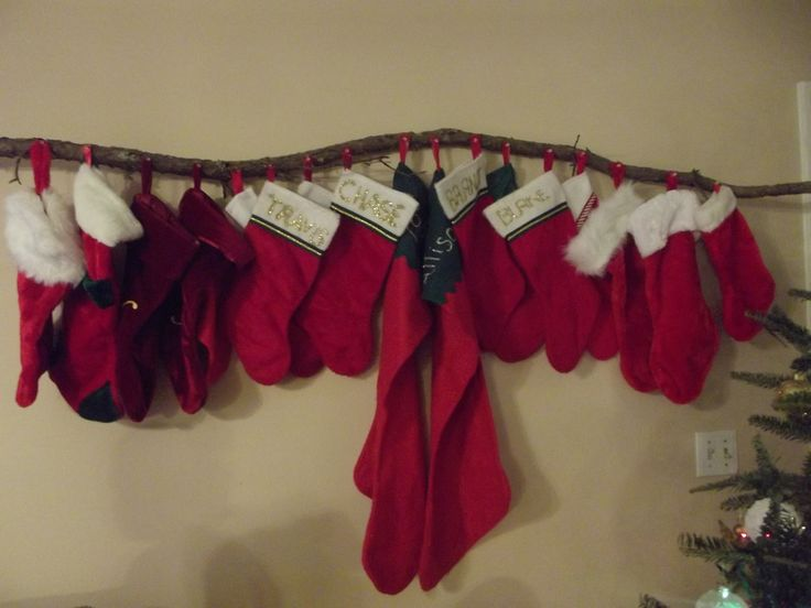 Hanging Stockings Without A Fireplace Close Up Of The