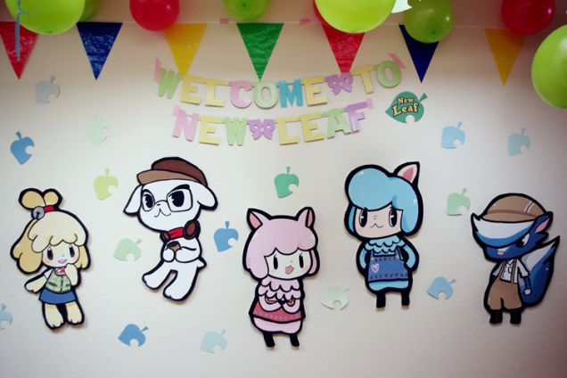 This might be the cutest animal crossing party ever for Animal crossing mural