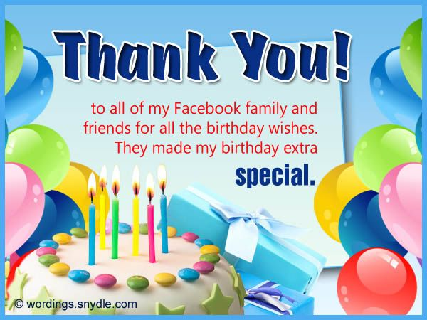 Thank You for Birthday Wishes on Facebook, Twitter