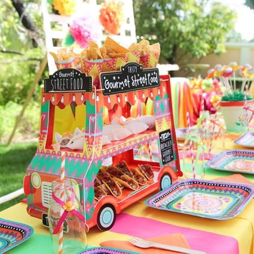 Our Mexican Fiesta Food Truck Will Definitely Be A Showstopper At Your Next Birthday Party The Perfect Display For All Yummy Treats