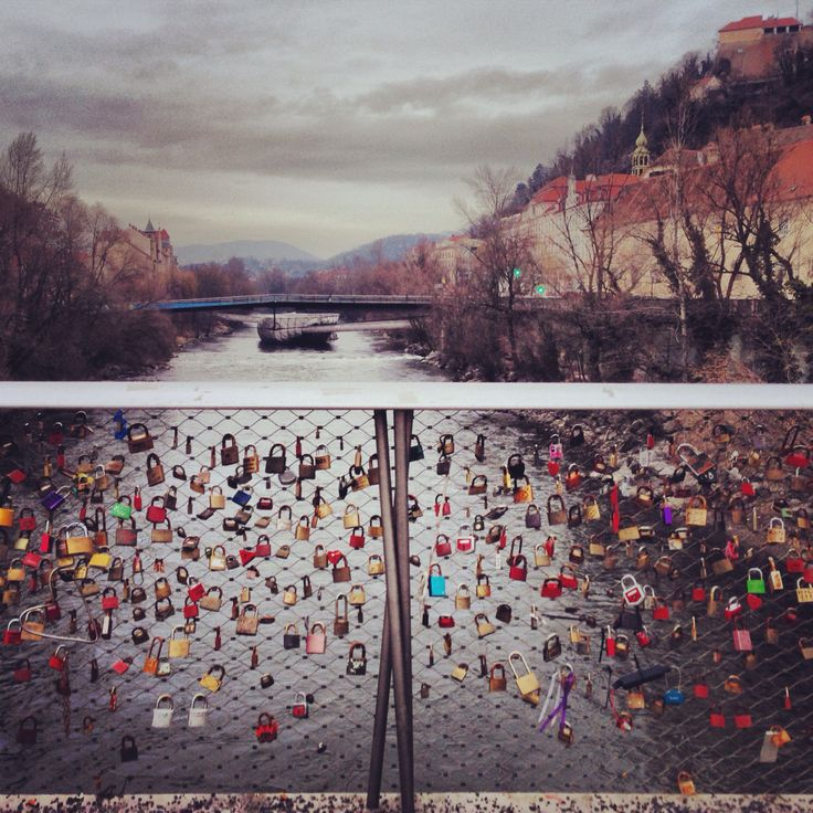 Andrew and I have a lock there, looks a lot more full these days! Lots of love!