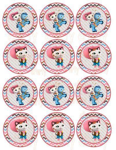 Sheriff Callie Cupcake Topper - Stickers GoPartyFiesta