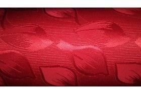 Tejido brocado rojo con dibujo de pétalos, tiene un poco de brillo. No sería necesario mojarlo previamente a la confección ya que predomina el poliéster en su composición.  ideal para la confección de chaquetas, faldas, traje de chaqueta, traje de pantalón..., preferentemente cortes rectos o con tablas.#brocado #brillante #pétalos #rojo #confección #chaquetas #faldas #trajedechaqueta #trajedepantalón #tela #telas #tejido #tejidos #textil #telasseñora #telasniños #comprar #online