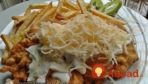 Výborné papanie, napríklad aj ako slávnostný nedeľný obed. Toto mäsko je o to chutnejšie, že je máčané v cesnakovom mlieku a obalené v chrumkavom zemiakovom kabátiku.