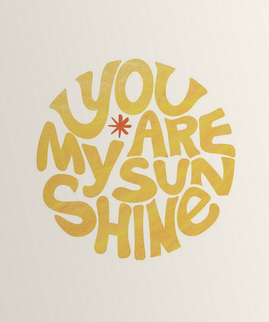 'you are my sunshine' wall art http://rstyle.me/n/wqdzspdpe