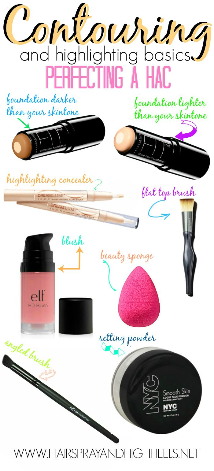 A huge list of the best highlighting and contouring products! #beautytips #makeup #makeuptips