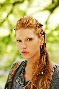 Lagertha's hair  |  I dont watch Vikings, but her hair is constantly badass
