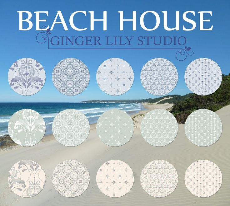 Beach House Collection by Ginger Lily Studio.  Pdf Swatch Pages available for download here: http://www.africanskyfabrics.com/images/Beach%20House%20Collection%20by%20Ginger%20Lily%20Studio.pdf