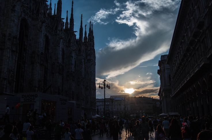 Milano - Piazza Duomo tramonto