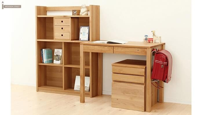 Frodo Study Table Cum Shelf (Natural Finish)-8