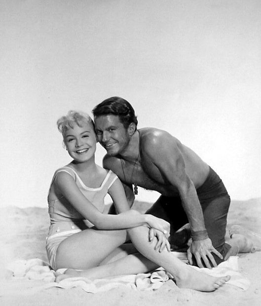 Gidget - Sandra Dee and Cliff Robertson. Great movie I love the BIg Kahuna! I had a crush on him when I was about 5...