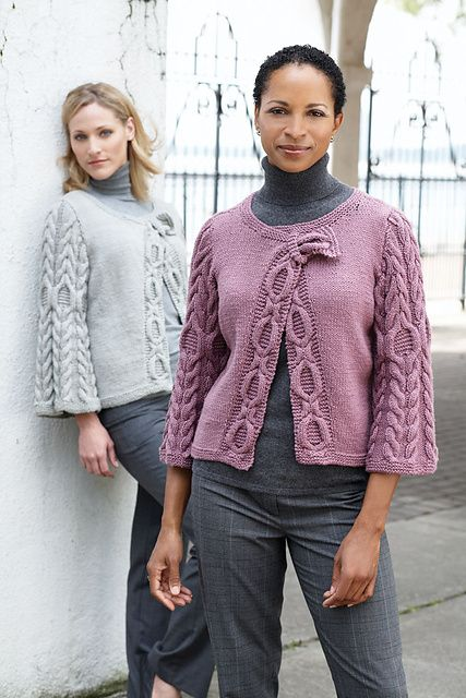 Ravelry: Diagonal Cables Cardigan pattern by Patons