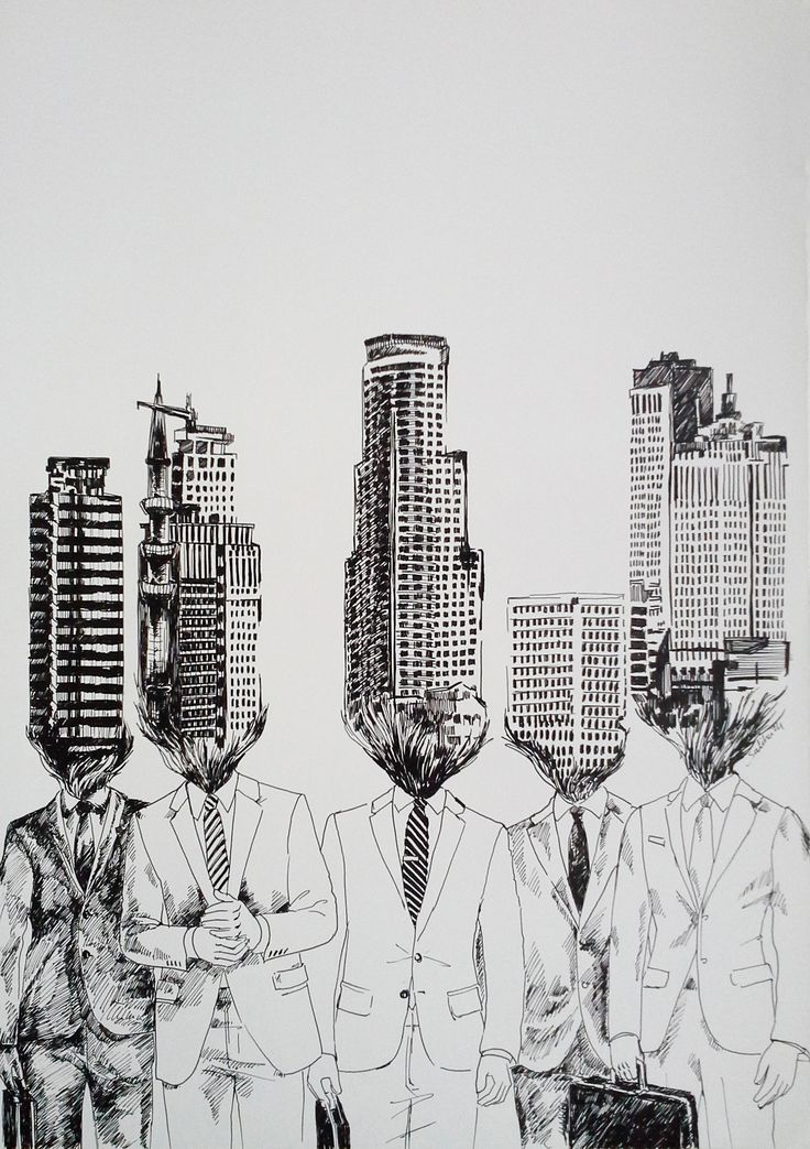 SALİHA YILMAZ / KENTLEŞMEK - BECOME URBANIZED Kağıt Üzerine Mürekkep / Ink on Paper, 35x30 cm, 2014.