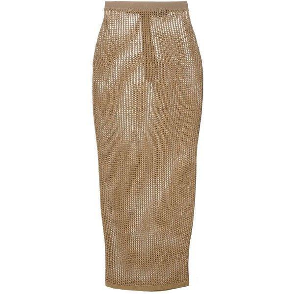 Brown Pencil Skirt