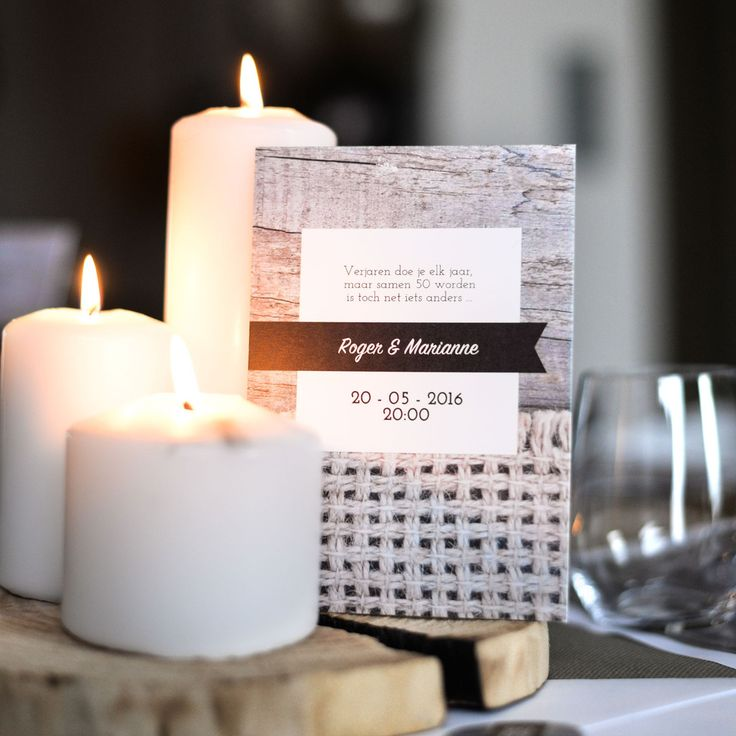 Vier feest met deze rustieke uitnodigingen! #rustiek #hout #invitations #beaublue