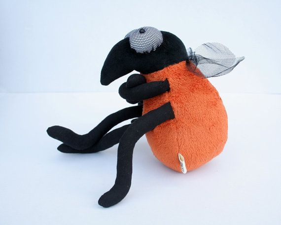 Funny Fruit Fly Plush Toy Plushie Insect Orange Softie