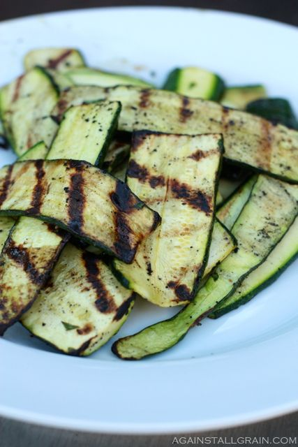 Lemon Parsley Grilled Zucchini #whole30