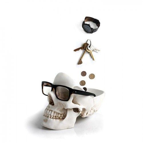 Skull Tidy Organiser on Yellow Octopus #skull #tidy #organizer #halloween