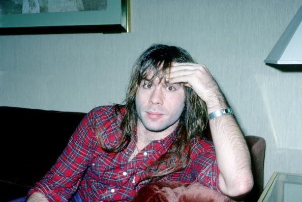 NOVEMBER 1984: Singer Bruce Dickinson of the metal band ' Iron Maiden' poses for a portrait session backstage in November 1984. Description from gettyimages.com. I searched for this on bing.com/images