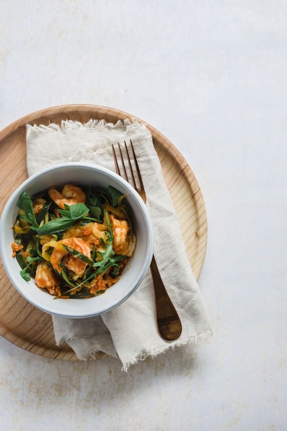 Your Healthy Alternative to Pasta: Sun-Dried Tomato and Prawn Courgetti | image.ie